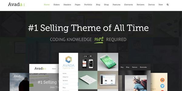 Las mejores plantillas de WordPress Premium: Avada