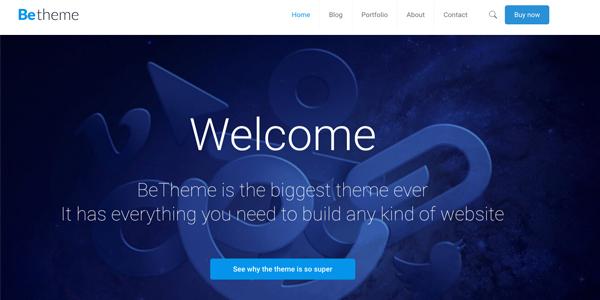 Las mejores plantillas de WordPress Premium: BeTheme