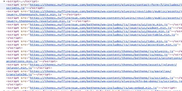 Error en el SEO de BeThemes. Utilizar mucho javascript
