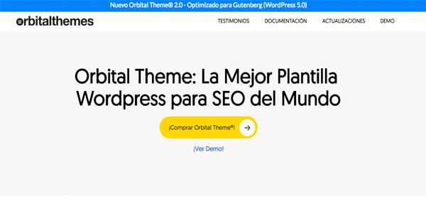 La mejor plantilla WordPress para SEO: Orbital Theme