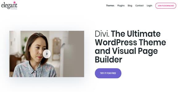 Las mejores plantillas de WordPress Premium: Divi Theme