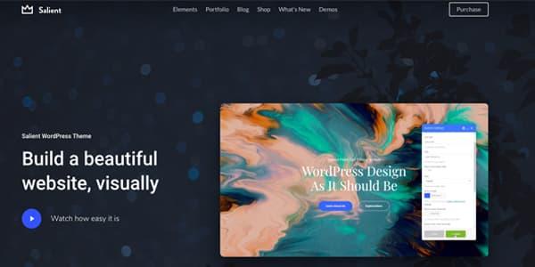 Las mejores plantillas para WordPress Premium: Salient