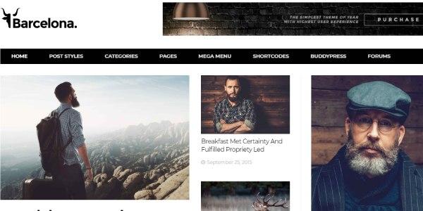Las mejores plantillas de WordPress Premium: Barcelona