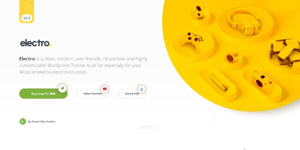 Las mejores plantillas de WordPress Premium: Electro