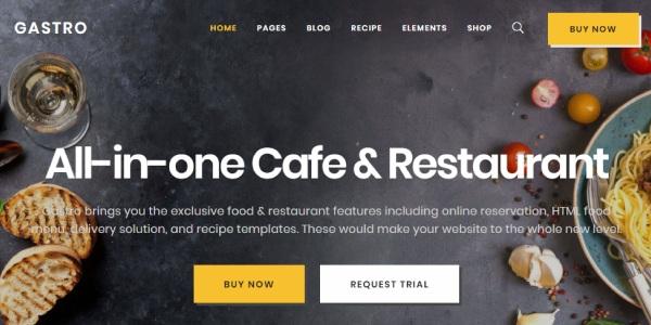 Las mejores plantillas de WordPress Premium: Gastro