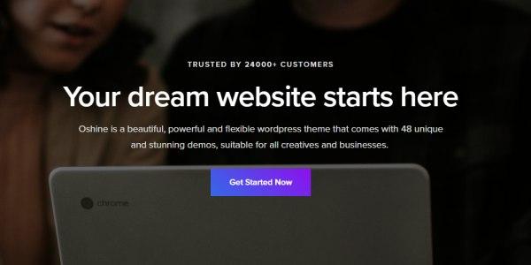 Las mejores plantillas de WordPress Premium: Oshine