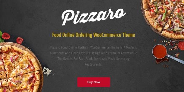 Las mejores plantillas de WordPress Premium: Pizzaro