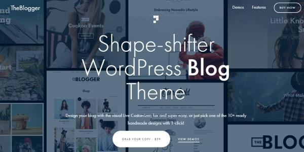 Las mejores plantillas de WordPress Premium: TheBlogger