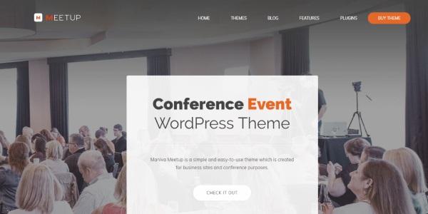 Las mejores plantillas de WordPress Premium: meetup