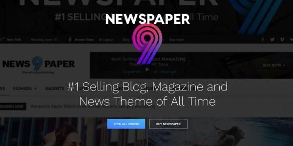 Las mejores plantillas de WordPress Premium: newspaper