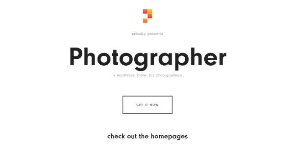 Las mejores plantillas de WordPress Premium: photographer