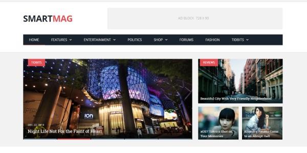 Las mejores plantillas de WordPress Premium: smartmag