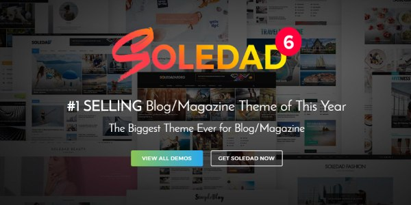 Las mejores plantillas de WordPress Premium: Soledad