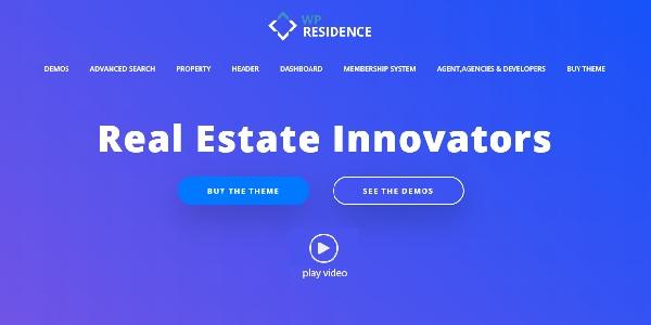 Las mejores plantillas de WordPress Premium: wp residence