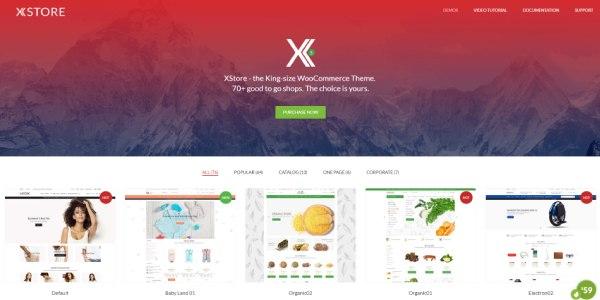 Las mejores plantillas de WordPress Premium: xstore